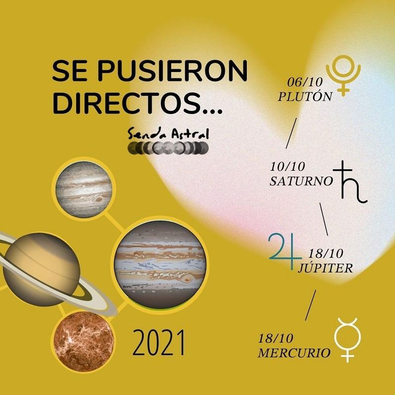 SENDA ASTRAL PLANETAS DIRECTOS OCTUBRE 2021
